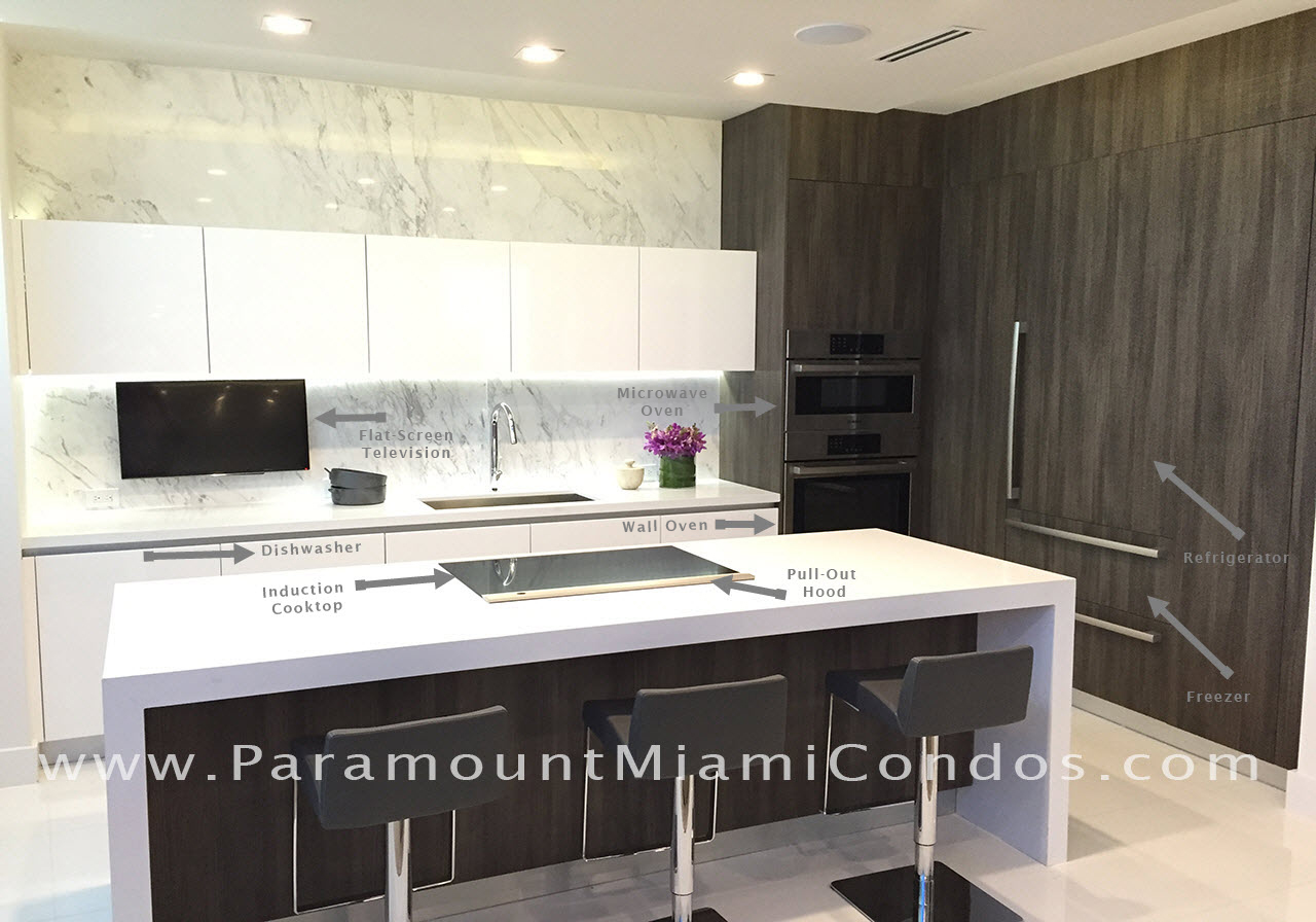 Paramount Miami Worldcenter Full Scale Kitchen Model With Features
