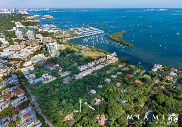 Aerial view of Hammock House in Coconut Grove's Camp Biscayne