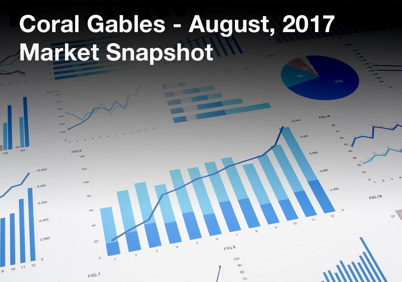 Coral Gables August 2017 Market Snapshot