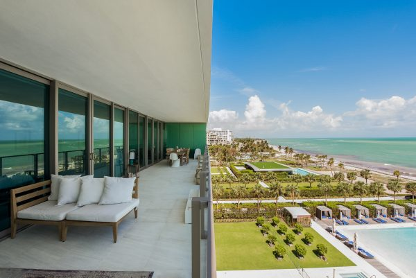Oceana Key Biscayne Unit 702S Terrace View