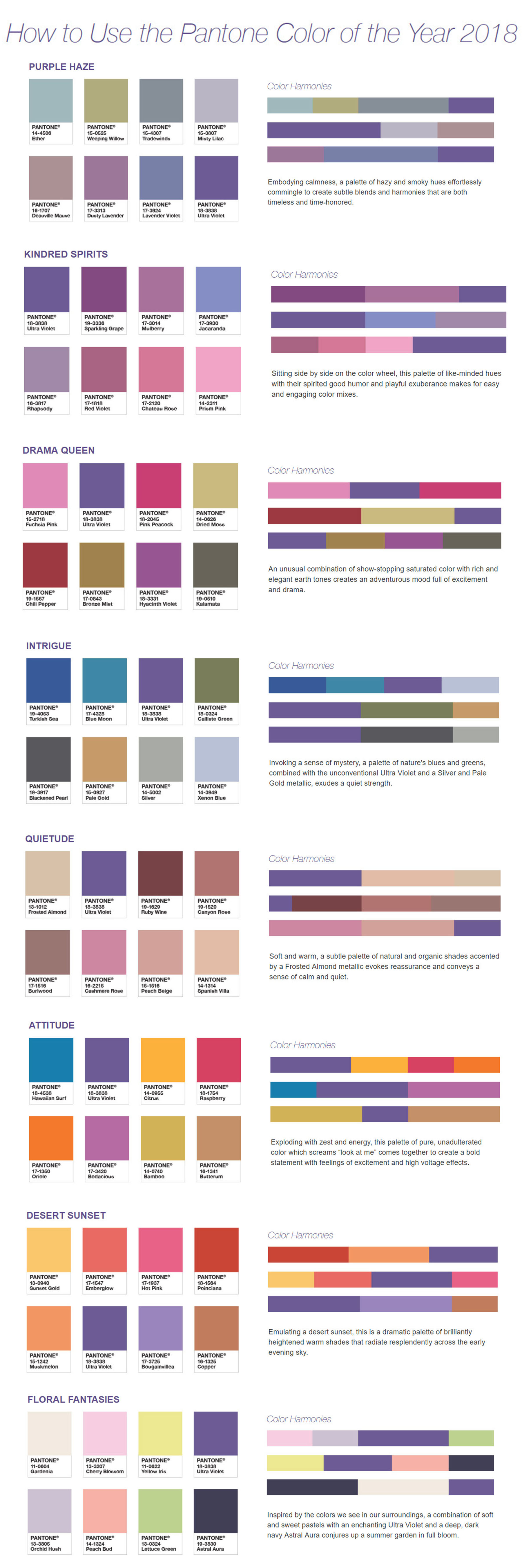 Check out the 2018 color of the year ultra violet for Pantone color of 2018