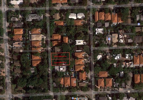 Site Map of Coconut Grove Lots Sold