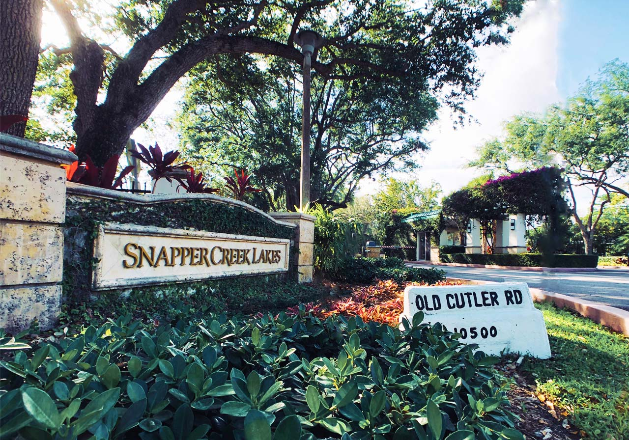 Snapper Creek Gated Neighborhood In Coral Gables Florida