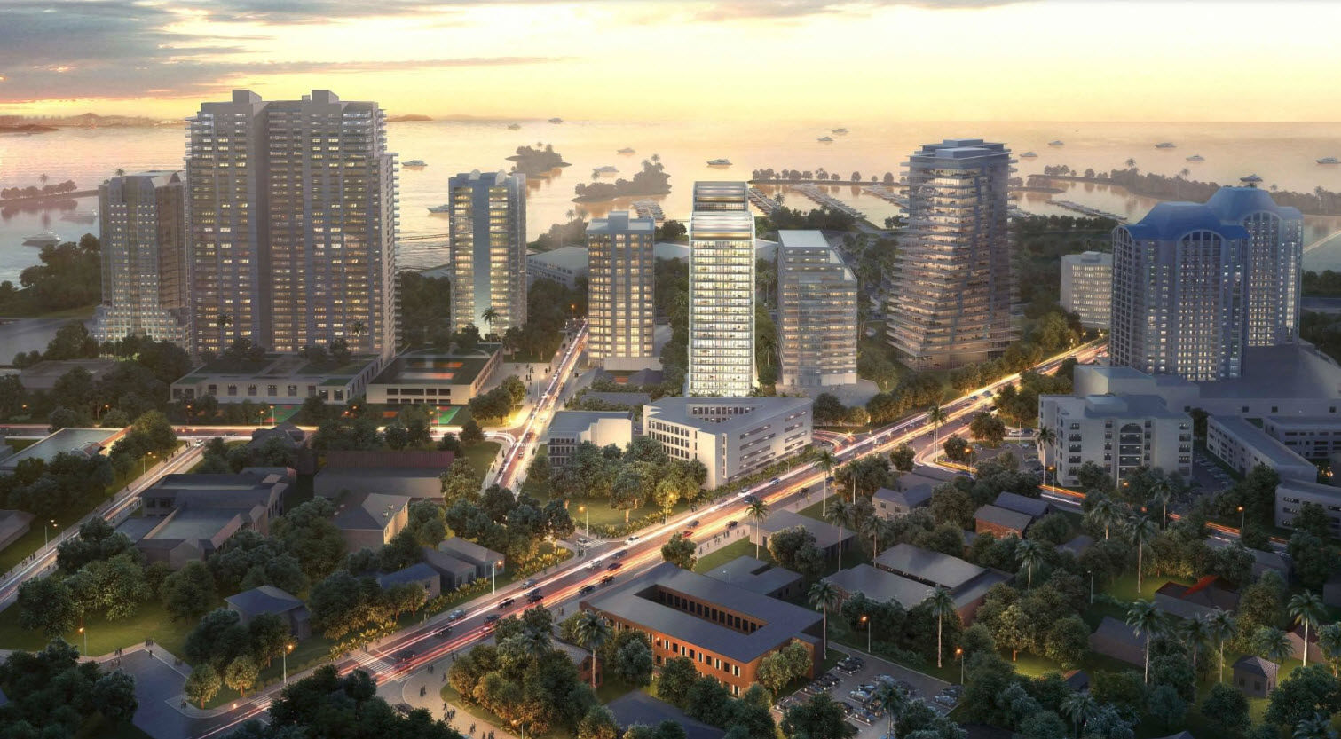 Rendering of Coconut Grove Skyline with Summerhill Coconut Grove
