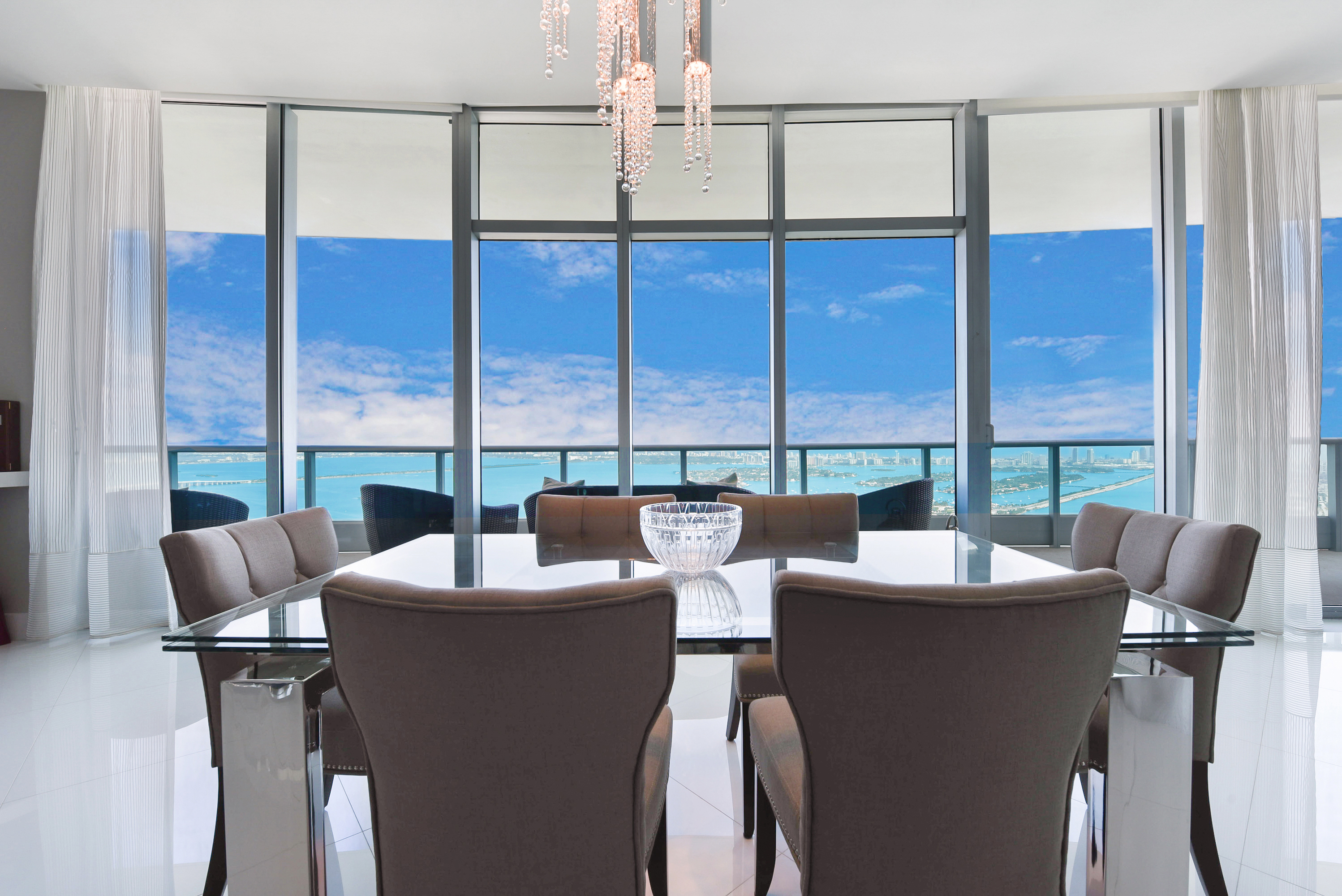 900 Biscayne Bay Penthouse 6307 Dining Room View